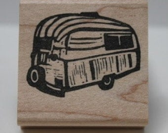 Vintage Airstream  No. 2 rubber stamp