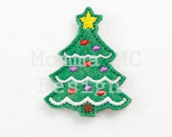 Christmas Tree Felt Feltie Embroidery Design