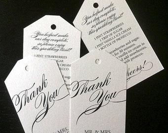 Elegant Double Sided Escort Tags