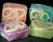 Amazement Loofah Soap Sponge Big Bar Shea Butter Mango Butter Loofah Body Bar Half Pound Bar
