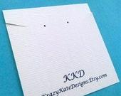 Halskette-Karten-set 30, gedruckt Halskette Karten, personalisiert, Ohrring Halskette/Postkarten, Schmuck