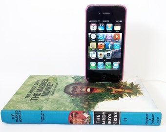 SALE IPhone or IPod Dock Station Hardy Boys Masked Monkey Book, IPhone Accessories, Docking Station Charger Mobile accessories