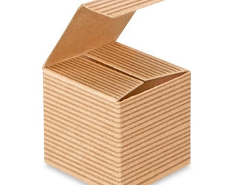 """10 2"""" x 2"""" x 2"""" Kraft Gift Boxes chipboard great for stamping recycled"""