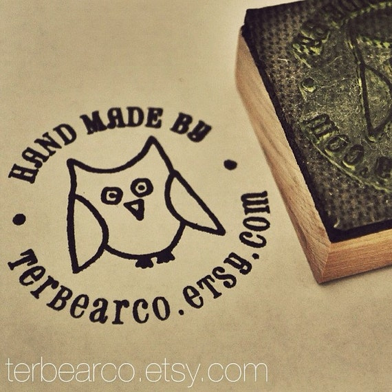 Personalized Owl Stamp Handmade By Rubber Stamp, Custom stamps
