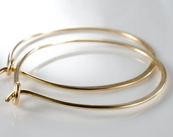 Gold Hoop Earrings - Small Size