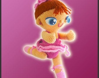 Amigurumi Pattern Crochet Agustina Ballerina Doll DIY Instant Digital Download PDF