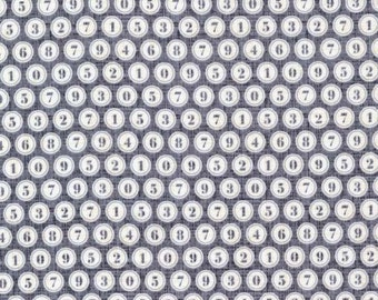 SALE Michael Miller, Patty Young, Just My Type, Type Keys Gray Fabric - REMNANT Size 32 Inches by 44 Inches