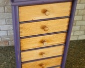 Vintage Wood Organizer Small Chest of Drawers for Doo-Dads and What-Nots