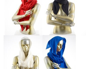 Sale Flame Retardant Scoodie, hooded scarf with point
