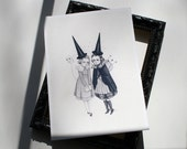 Two Witches mini print - archival giclee