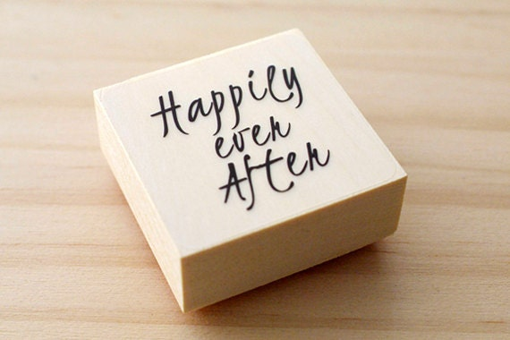 Rubber stamp - Happily ever after
