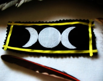 SALE Maiden, Mother, and Crone Triple Moon Sew-On Patch