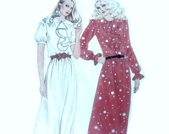 Vintage 70s Secretary Dress Pattern Butterick 3354 Loose Drapey Belted with Bodice Ruffle 31 32 bust