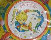Rainbow Brite Vintage 1983 Birthday Plates fom Hallmark