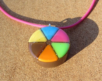 BROWN - Upcycled Trivial Pursuit pendants