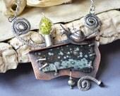 Fiddlehead  Fern Snail Necklace