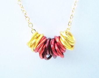 Sonoran Sun Mobius Rings Necklace Handmade