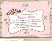 Pink Princess Girl Baby Shower Invitation, Princess Baby Shower Invite, Princess Printable Invitation, Pink Princess Printable Invite
