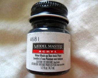 Gun Metal Acrylic Model Paint - Model Master - No. 4681 - 0.5 fl oz