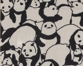 Tenugui Japanese Fabric 'Pile of Pandas' w/Free Insured Shipping
