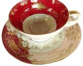 Vintage Pink  UCAGCO Teacup and Saucer
