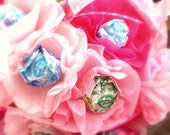 Lollipop tissue paper flowers bouquet  for wedding flower girl, bridesmaid, or bride.  Great for rehearsal or ceremony.