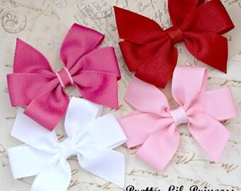 Valentine Pinwheel Hair Clip Set of 4