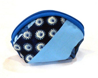 Coin Purse in Blue Stripes Small