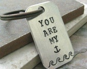 You Are My Anchor Keychain, Nautical Keychain, anniversary gift, gift for husband, lgbt couple, optional initial disc, see pics