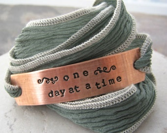 One Day At A Time Bracelet, Sobriety Bracelet, Recovery Bracelet, motiviational, inspirational, encouragement