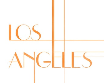 Los Angeles Art Deco Print