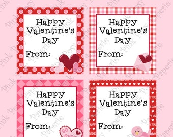 Printable Valentine Gift Tags - Instant Download