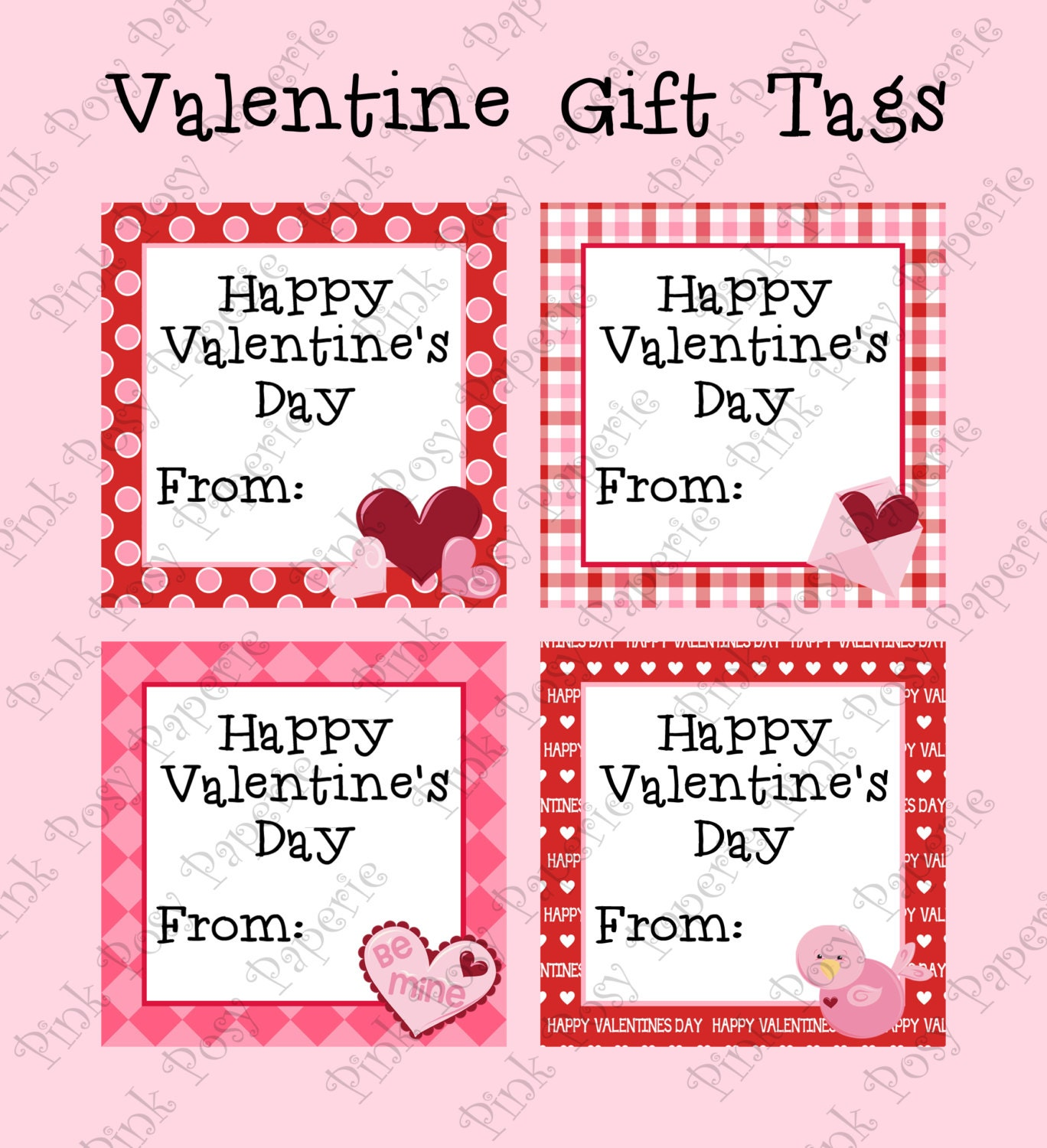It is a graphic of Satisfactory Printable Valentine Tag