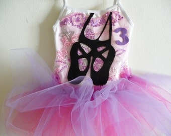 BALLET BIRTHDAY TUTU - Ballet Tutu - Personalized - Sizes 18/24 months, 2/4 Years, 4/6 Years, 6/8 Yearsmand up