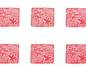 Japanese Stickers  Traditional Japanese Autumn  Leaves Floating on Water  Washi Paper (S55)