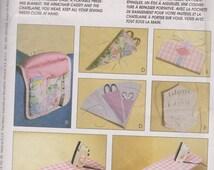Sewing Pattern Accessories Chatelaine Scissor Needle Case Pin Holder Iron Board Craft Bazaar