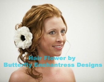 Wedding Hair Flower, Hair Accessory, Bridal Hair Clip - Ivory Rachelle Anemone Flower Clip
