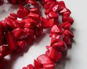 48 in. Strand of Red Dyed Agate Chips - SALE
