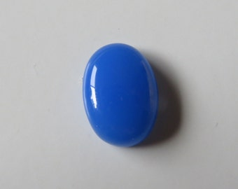 Blue Chalcedony - Oval Cabochon, 11.75 cts - 13x18 (BC178)