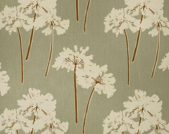 Magnolia serenity floral spa home decor fabric remnants, four pieces.