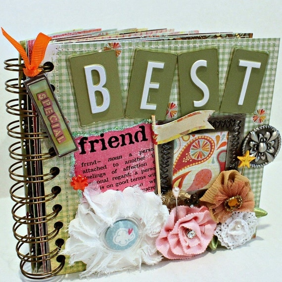 BEST FRIEND A-Z Friendship Scrapbook Photo Album