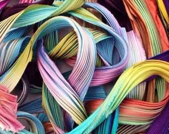 Silk Shibori Ribbon Scrap bags