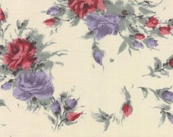 LAST 40 Inches - Padstow Range - Cabbages And Roses - For Moda - One Yard - 8.00 Dollars