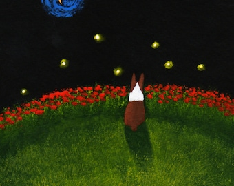 Seal Boston Terrier Dog Art PRINT Todd Young painting FIREFLIES
