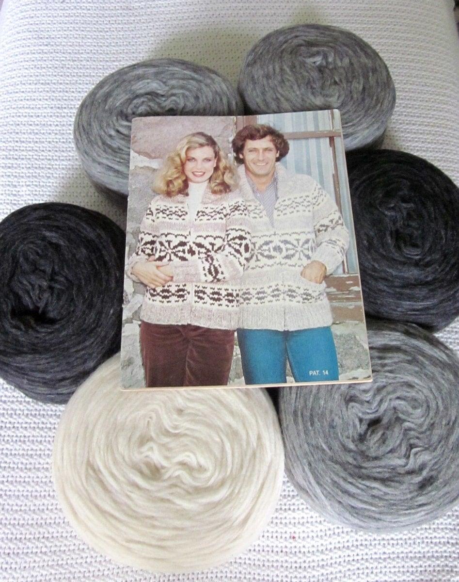 Cowichan SWEATER Knitting Kit SNOWFLAKE Canadian wool yarn