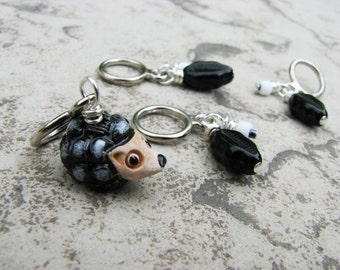 Hedgehog Forest Non-Snag Stitch Markers