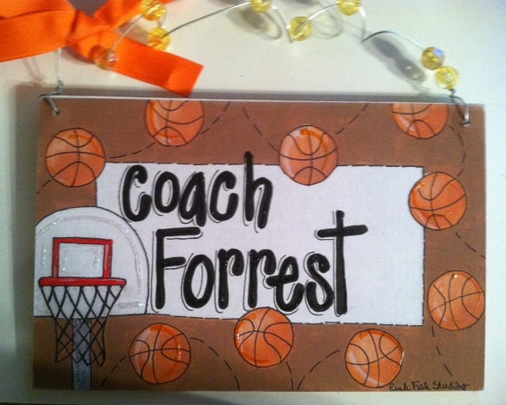 Hand personalized basketball room name sign