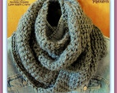Instant Etsy Download PATTERN - Thistle  Moebius Eternity Circle Scarf -Unisex Cozy Chunky Crochet PATTERN -Fun to Create