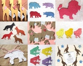 45 PLAIN Plantable Animals - Baby Shower Favor with Flower Seeds - Kids Birthday Party Favor
