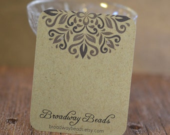 Earring Display Cards with Grey Pattern Design - Customized - Personalized -  Jewelry Display - Branding